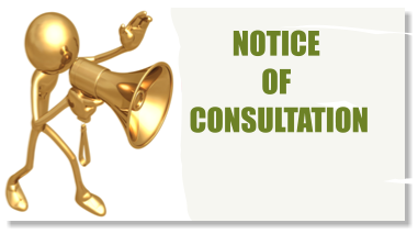 NOTICE  OF  CONSULTATION